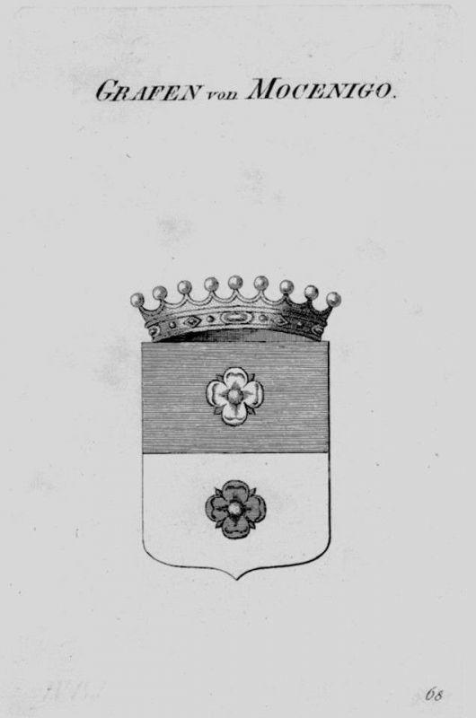 1820 - Mocenigo Wappen Adel coat of arms heraldry Heraldik crest Kupferstich