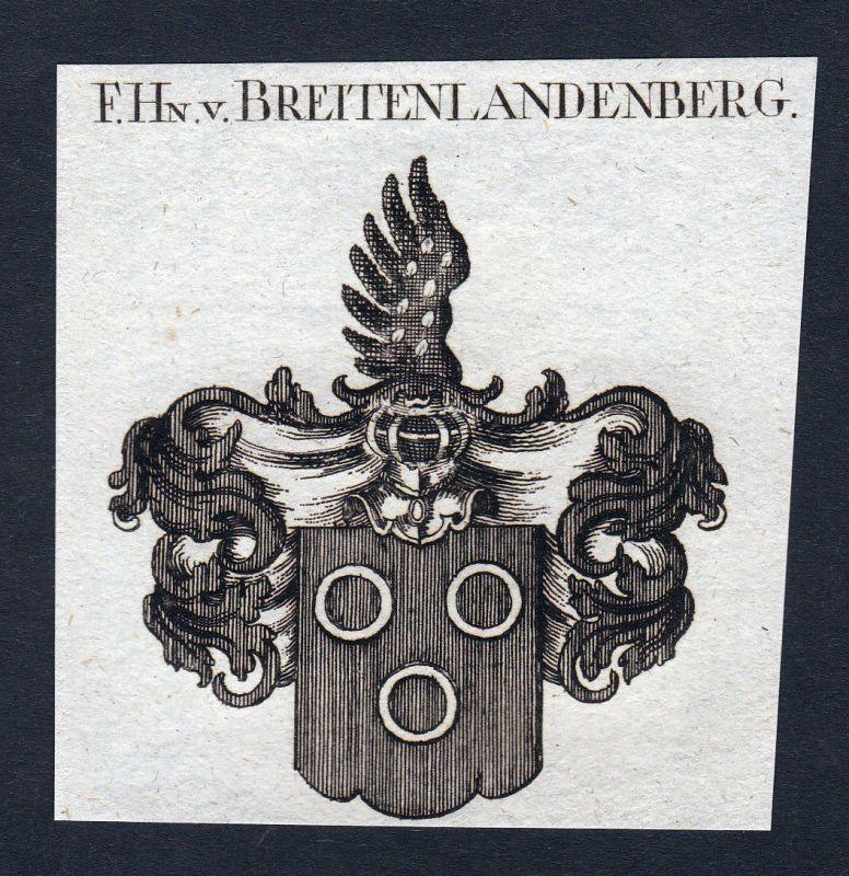 Wildhans Breitenlandenberg Wappen Adel coat of arms Kupferstich engraving