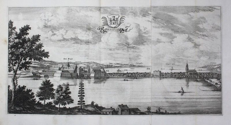 1710 - Jönköping Smaland sweden Schweden Kupferstich Dahlberg engraving