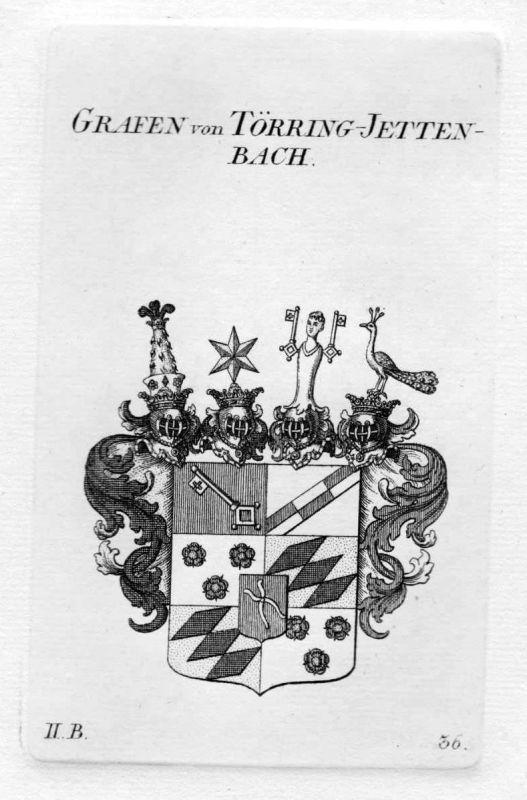 1820 - Törring Jettenbach Wappen Adel coat of arms heraldry Heraldik Kupferstich