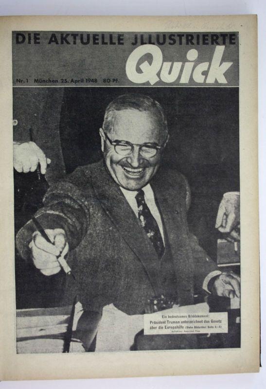 Die Aktuelle Illustrierte 1. Jahrgang Nr. 1 25. April Nr. 23/24 19. Dez 1948