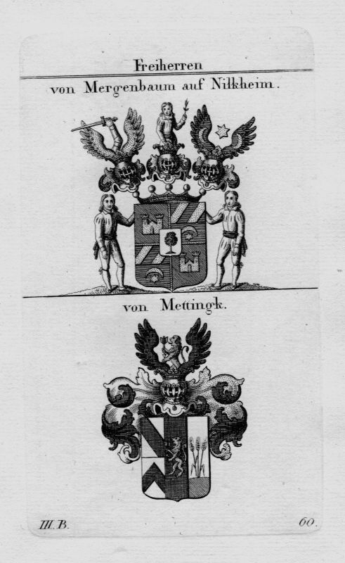1820 - Nordeck Rabenau Notthaft Weissenstein  Wappen Adel coat of  Kupferstich