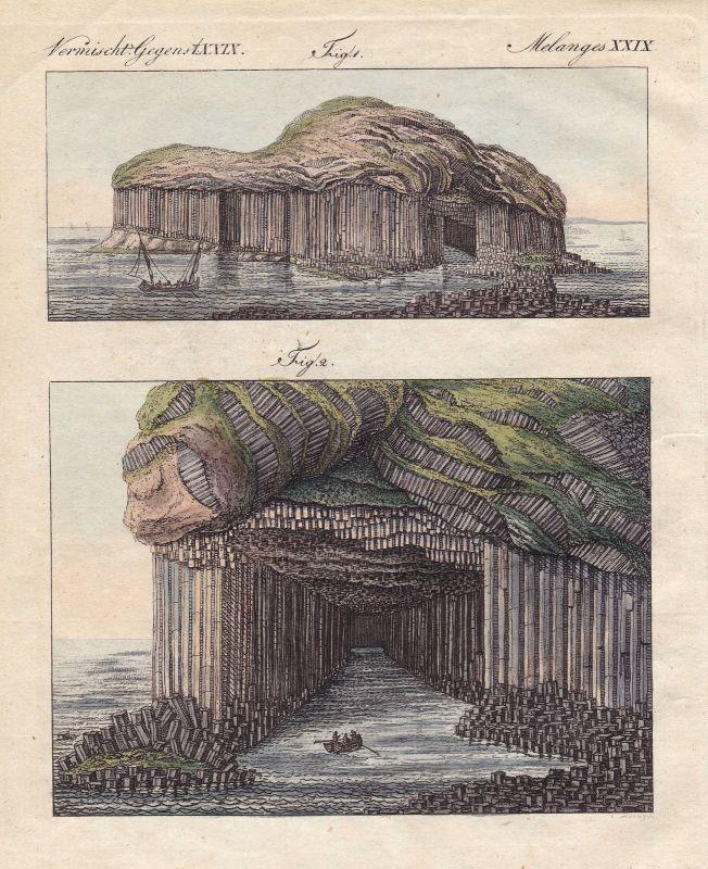 Staffa Schottland Scotland Fingal's Cave Höhle Höhlen caves Insel Bertuch 1800