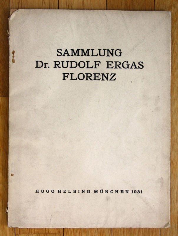 1931 Otto Von Falke Sammlung Dr. Rudolf Ergas Florenz Auktion Katalog 0