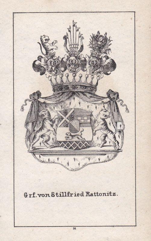 Stillfried-Rattonitz Czech Bohemia Tschechien Wappen Heraldik coat of arms Adel