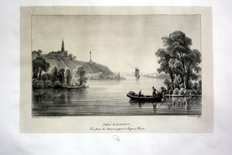 1829 Saint Florent Korsika Corse Ansicht vue Lithographie Litho Dagnan 110827