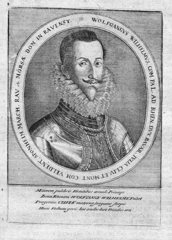 Ca. 1650 Wolfgang Wilhelm Pfalz-Neuburg Portrait Kupferstich antique print