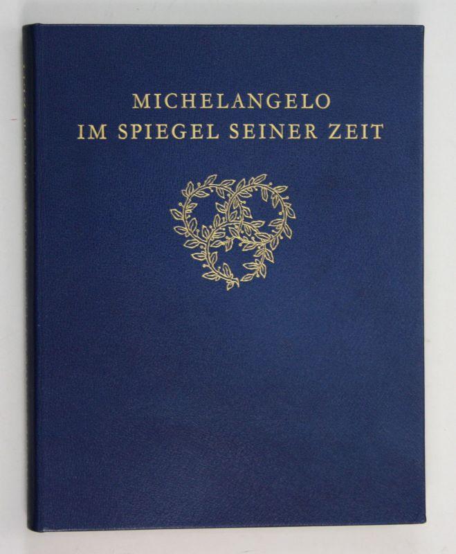 1930 Ernst Steinmann Michelangelo im Spiegel seiner Zeit Leder