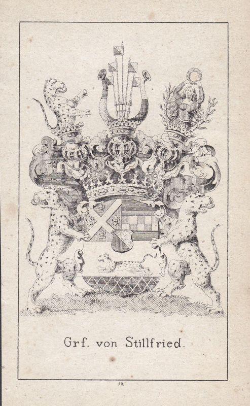 Stillfried Stillfried-Rattonitz Czech Bohemia Wappen Heraldik coat of arms Adel
