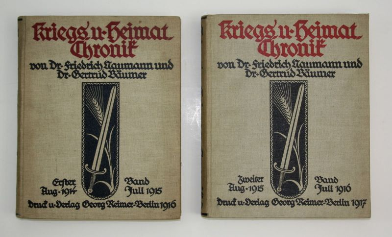 1917 Naumann Bäumer - Kriegs Heimat Chronik Weltkrieg Krieg Militaria 2 Bände