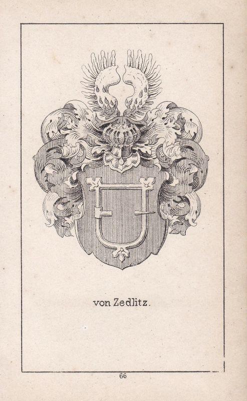 Ca. 1840 Zedlitz Silesia Schlesien Wappen heraldry Heraldik coat of arms Adel