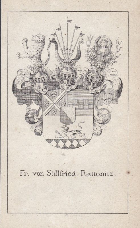 1840 Stillfried-Rattonitz Czech Böhmen Bohemia Wappen Heraldik coat of arms Adel