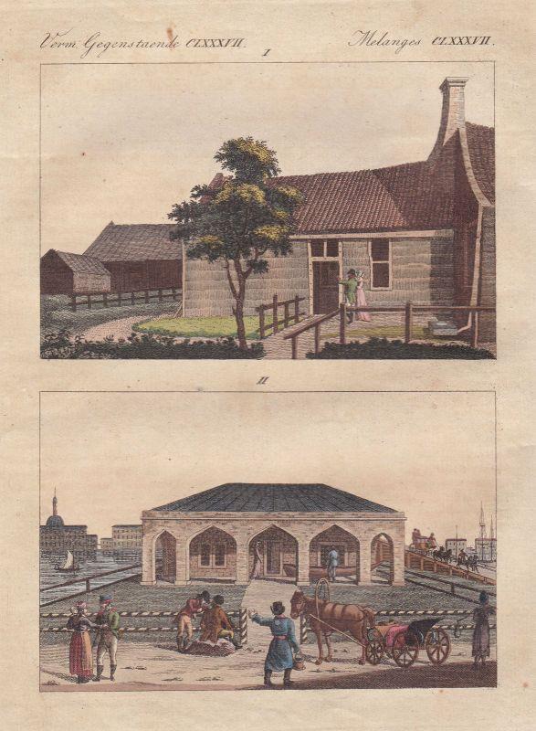 Peter Großen Saardam Hütte Zaanstad Niederlande Sankt Petersburg Bertuch 1800