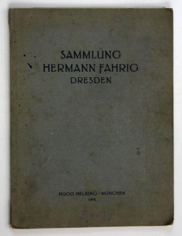 Sammlung Ölgemälde Moderne Meister Hermann Fahrig Dresden München Auktion