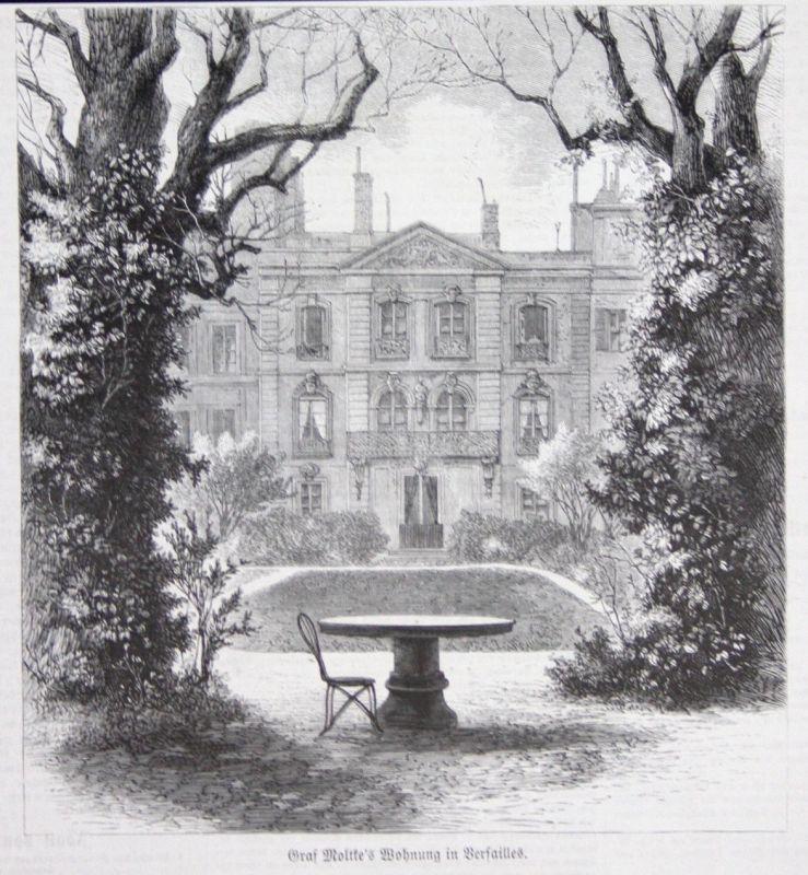 1871 Versailles Paris France Frankreich Original Holzstich woodcut gravure