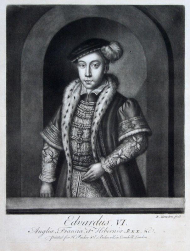 1759 Richard Houston Edward VI Portrait Aquatinta mezzotint König von England