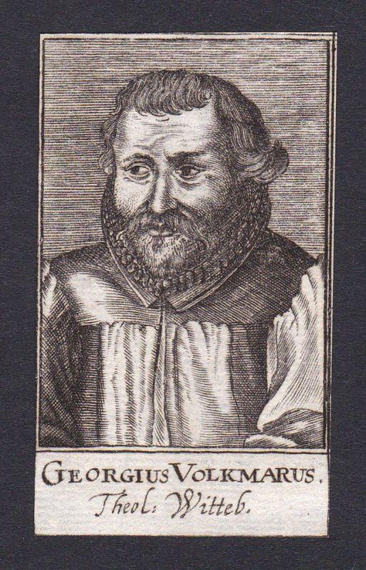 1680 Johann Georg Volkmar / theologian Theologe Wittenberg Portrait Kupferstich