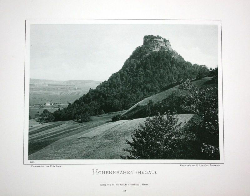 1896 Burg Hohenkrähen Singen Konstanz Foto Fotografie photo Schwarzwald Luib
