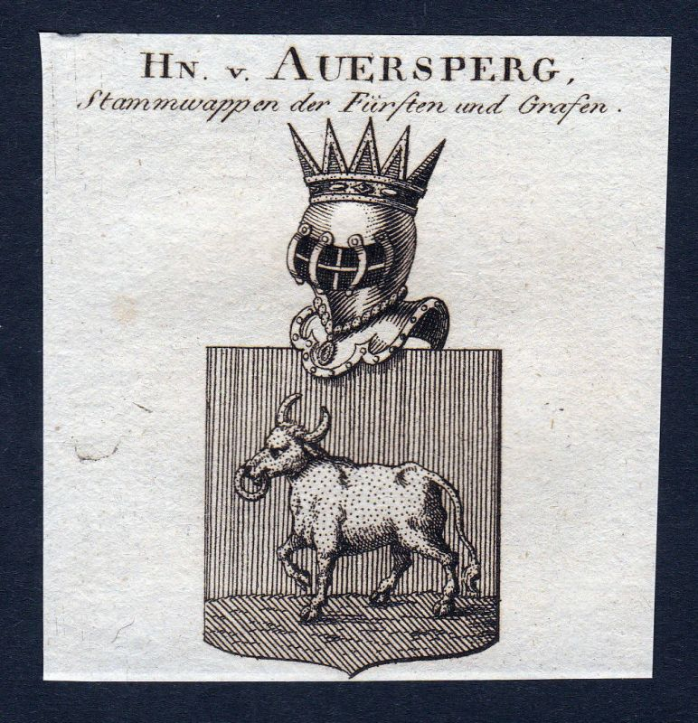 1820  Auersperg Österreich Wappen Adel coat of arms Kupferstich engraving