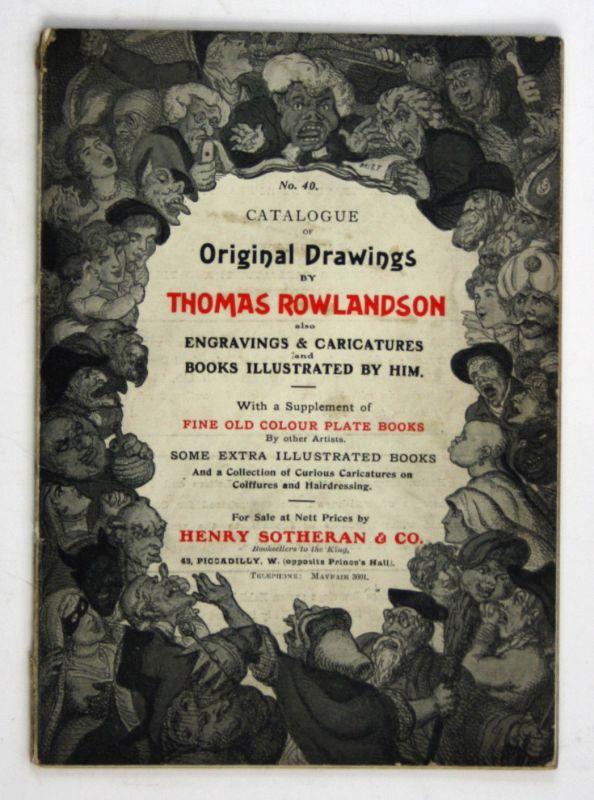 1909 Catalogue of Original Drawings by Thomas Rowlandson Kunst art Zeichnungen