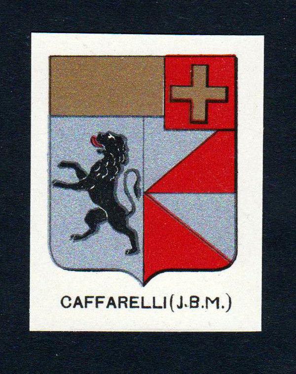 Ca. 1880 Caffarelli Wappen Adel coat of arms heraldry Lithographie antiqu 146178