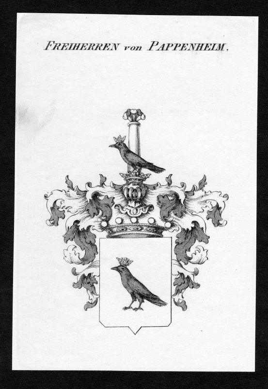 Ca. 1820 Pappenheim Wappen Adel coat of arms Kupferstich antique print he 129824