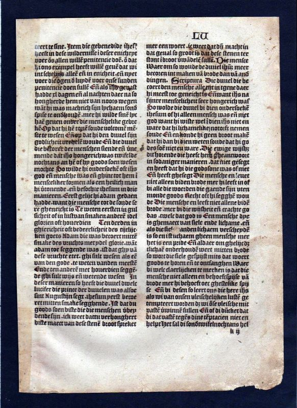 1499 Blatt LV Inkunabel Vita Christi Zwolle incunable Dutch Holland