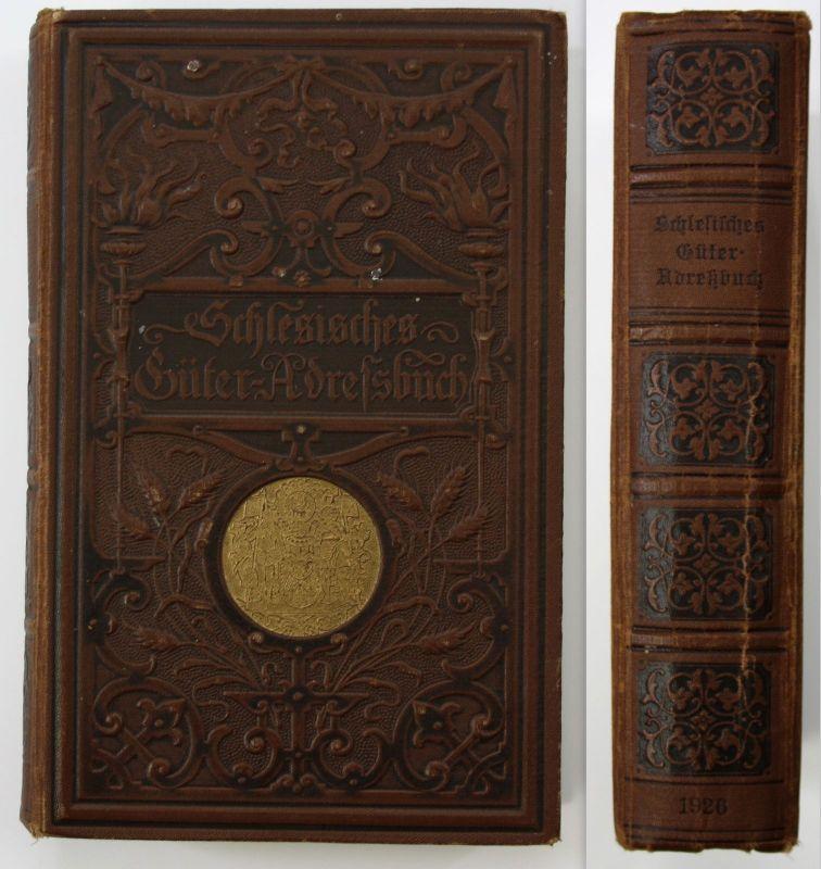 1926 Schlesisches Güter-Adreßbuch Schlesien Geschichte Adress-Buch