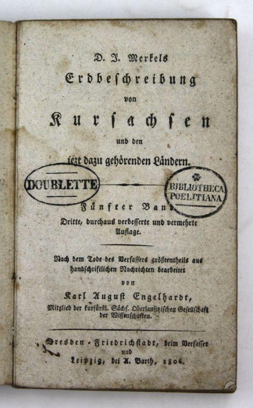 1808 Engelhardt Erdbeschriebung Kursachsen dazu gehörigen Ländern Sachsen 5 Band