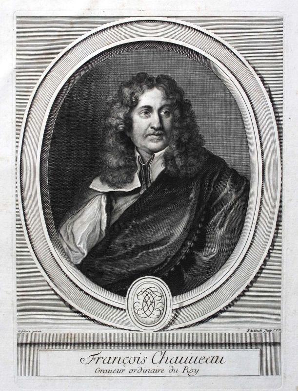 Francois Chauveau Zeichner peintre Kupferstecher graveur Portrait ca. 1700