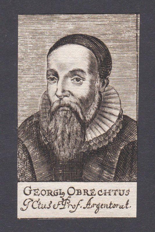 17. Jh. - Georg Obrecht lawyer professor Jurist Strasbourg Portrait Kupferstich