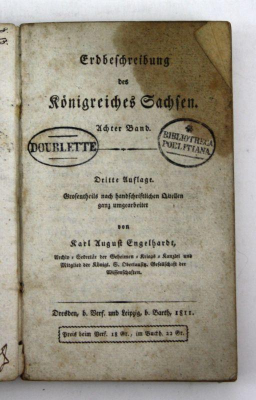 1811 Engelhardt Erdbeschreibung Königreiches Sachsen 8 Band 3 Auflage Kursachsen
