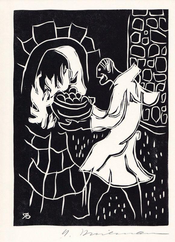 1971 Rudolf Breilmann Holzschnitt zu einer Geschichte