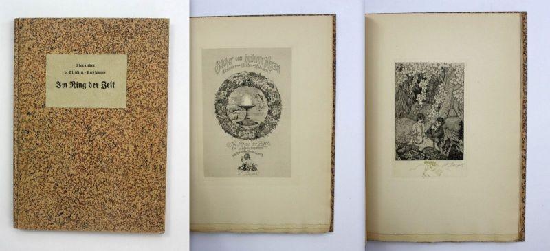 Rußwurm Im Ring d. Zeit 1924 Ferdinand Staeger Radierungen signiert Pressendruck