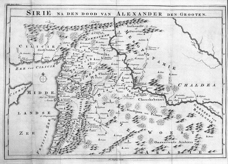 18. Jh. Syrien Syria Cyprus Zypern Turkey Karte map Kupferstich antique print