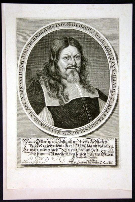 1674 Georg Julius Christ Brandenburg Portrait Kupferstich engraving Sandrart