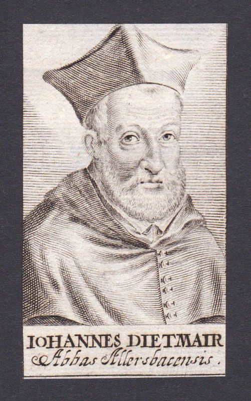 17. Jh. Johannes Diethmaier theologian Theologe Allersbach Portrait Kupferstich