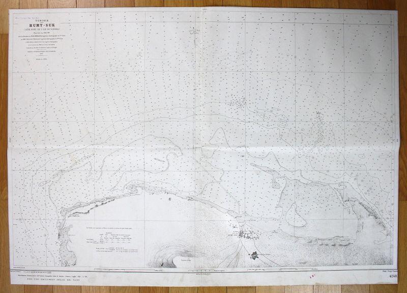 1941 Tunisie - Humt-Suk Houmt Souk Tunesien Tunisia map
