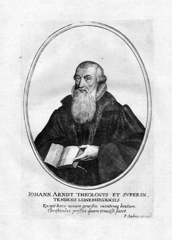 17. Jh. Johann Arndt Lüneburg Wittenberg Portrait Kupferstich antique print