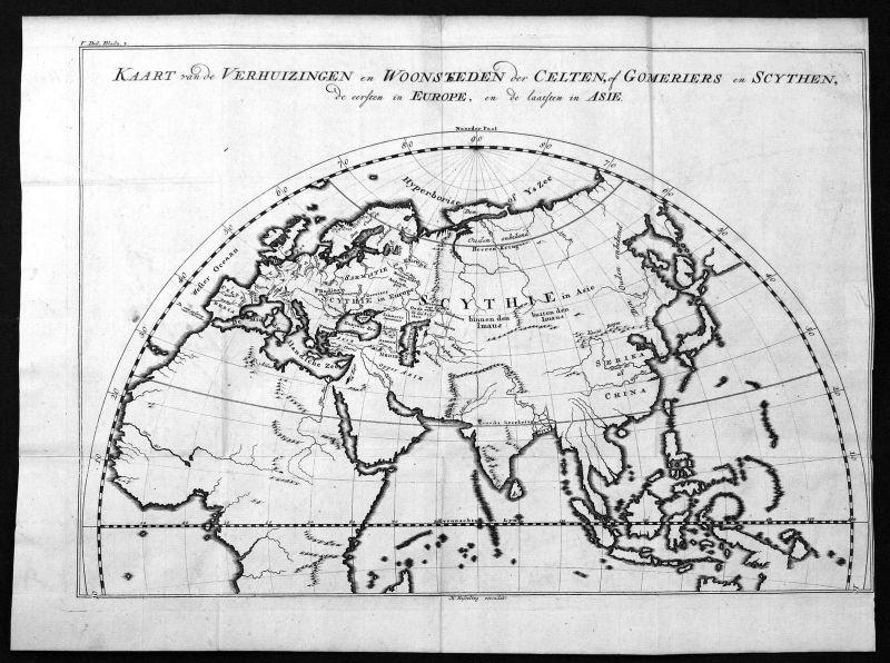 18. Jh Europe Europa Asien Asia Africa Afika Karte map Kupferstich antiqu 157810