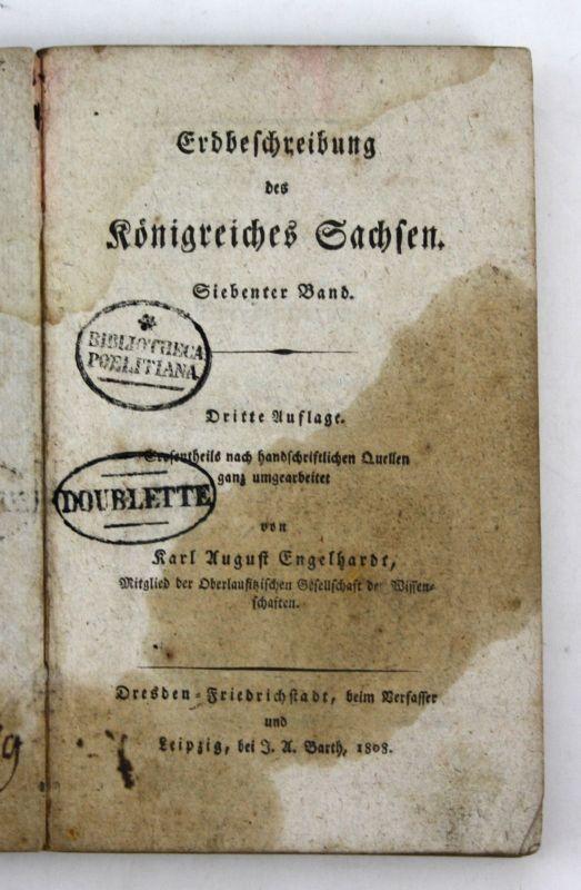 1808 Engelhardt Erdbeschreibung Königreiches Sachsen 7 Band 3 Auflage Kursachsen 0