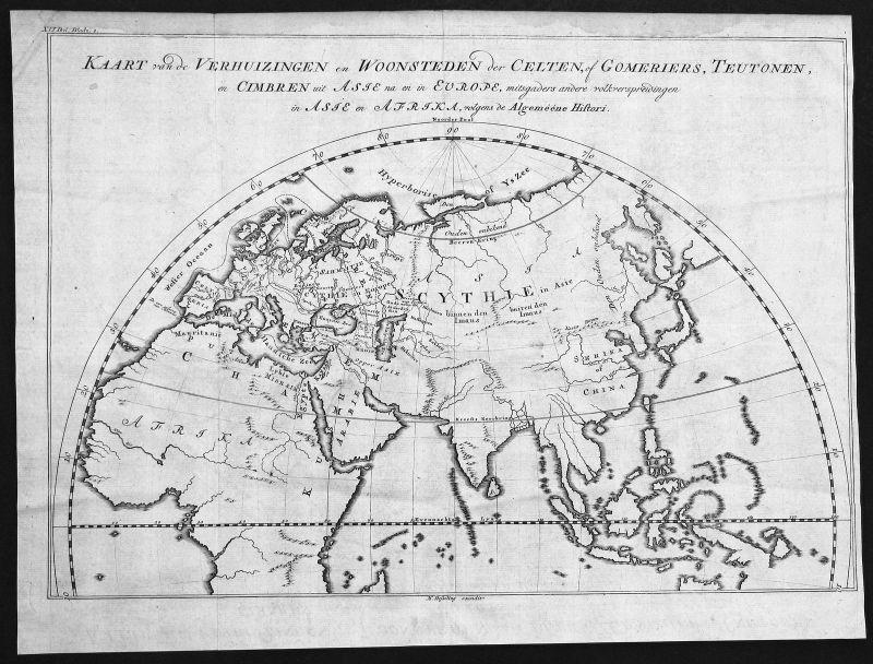 18. Jh Europe Europa Asien Asia Africa Afika Karte map Kupferstich antique print