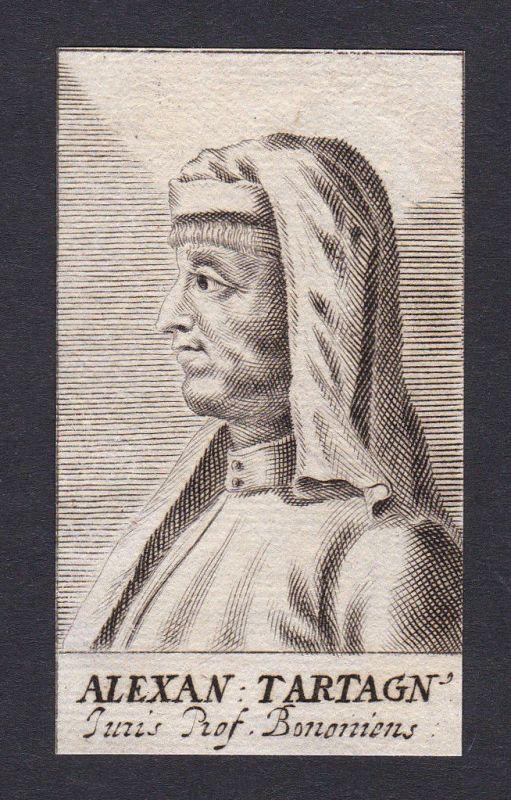 17. Jh. - Alexander de Tartagnis / jurist Bologna Portrait Kupferstich