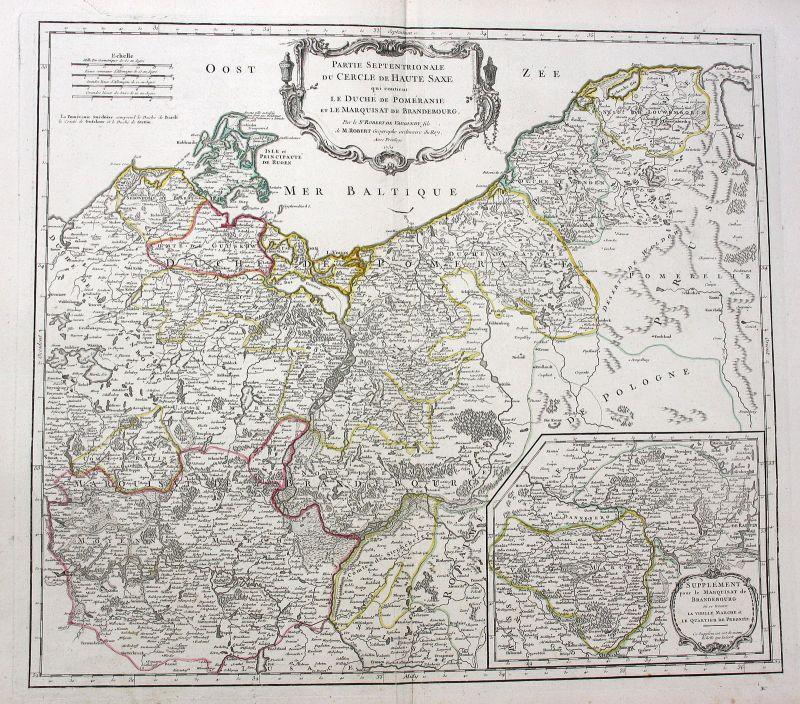 1751 Szczecin Stettin Polska Poland Polen Berlin Brandenburg Robert de Vaugondy