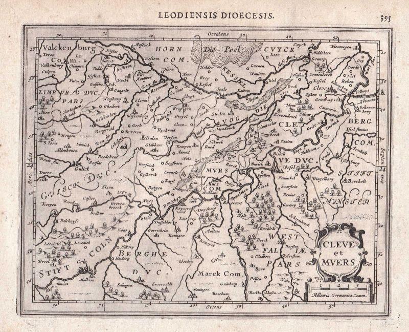 Kleve Moers Germany Nordrhein-Westfalen North Rhine-Westphalia map Mercator