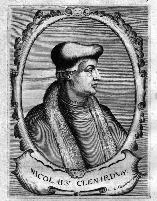 1680 Nicolaes Cleynaerts grammarian Grammatiker Kupferstich Portrait engraving