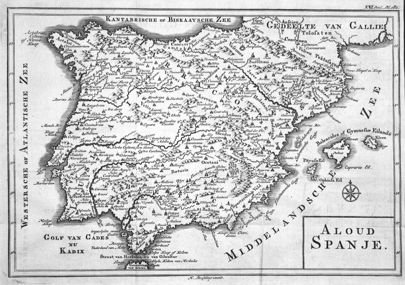 18. Jh. France Spanien Spain Espana Portugal Karte map Kupferstich antique print