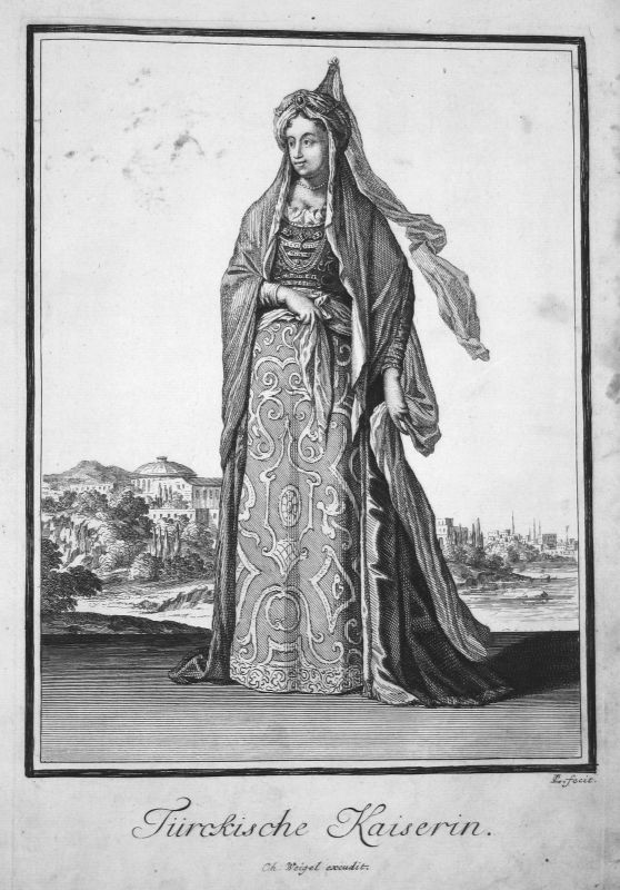 1703 Turkey Türkei Ottoman Empire emperor Kupferstich antique print Sta Clara