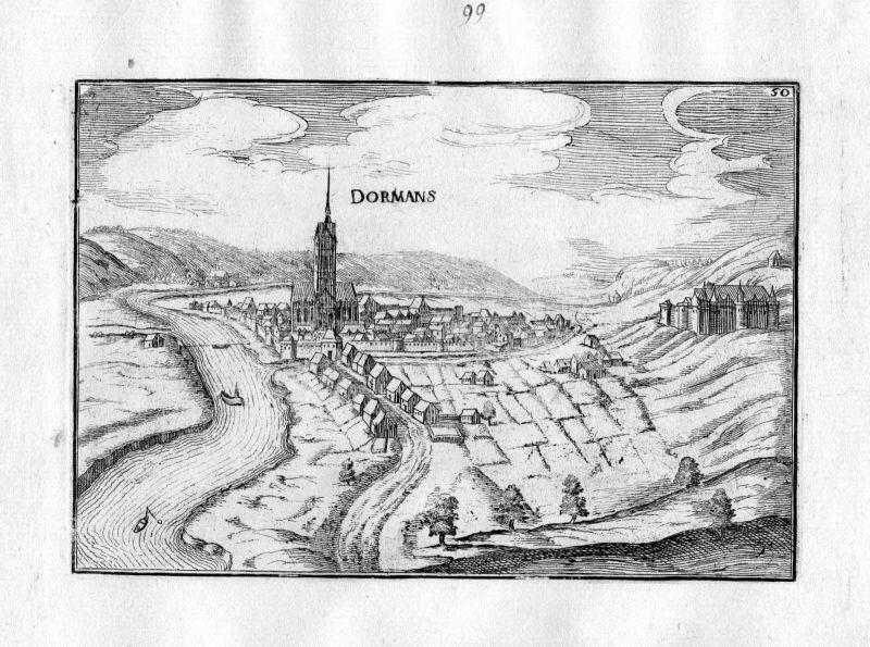 1633 Dormans Champagne-Ardenne Tassin gravure estampe Kupferstich engraving