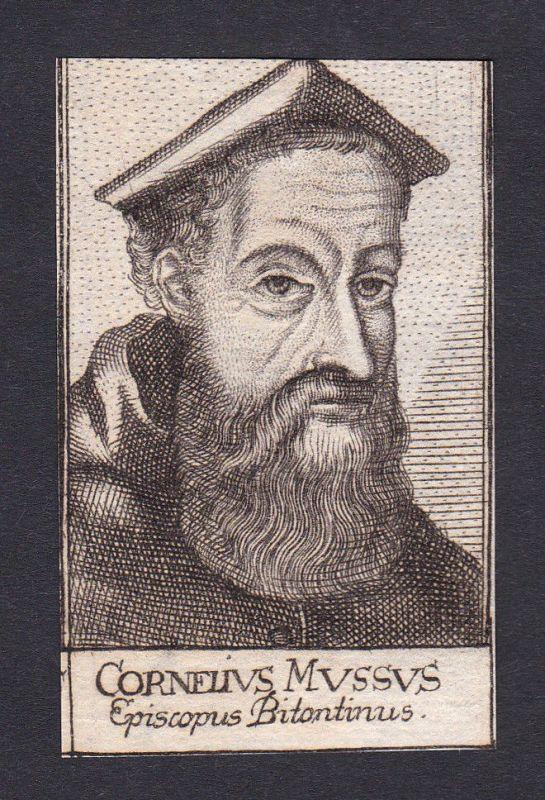 1680 Cornelio Musso / bishop Bischof Bitonto Italien Italia Portrait Kupferstich